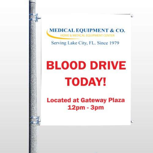 Blood Drive 330 Pole Banner
