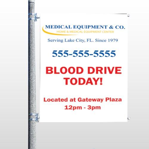 Blood Drive 97 Pole Banner
