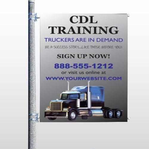 CDL Training 155 Pole Banner