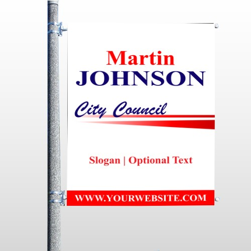 City Council 310 Pole Banner