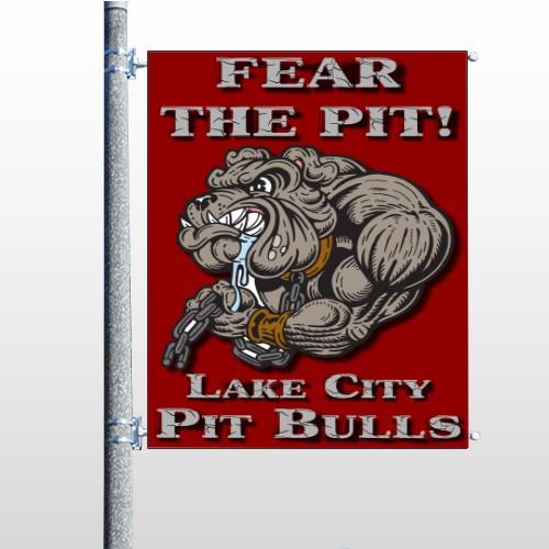 Fear Dog Mascot 51 Pole Banner