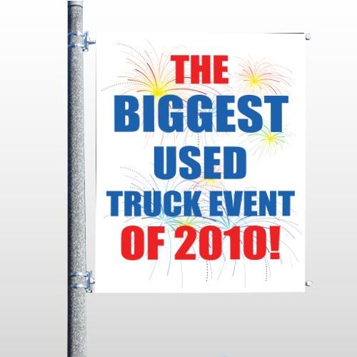 Fireworks 327 Pole Banner