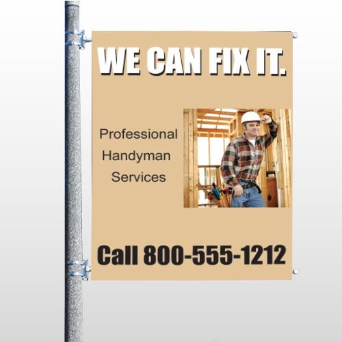 Handyman 240 Pole Banner