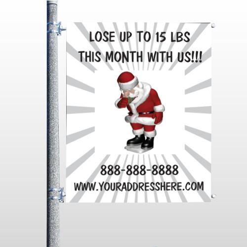 Health Santa 402 Pole Banner