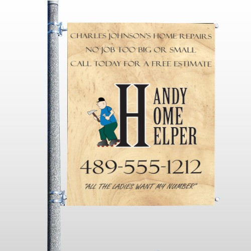 Home Repair 242 Pole Banner