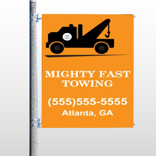 Mighty 128 Pole Banner