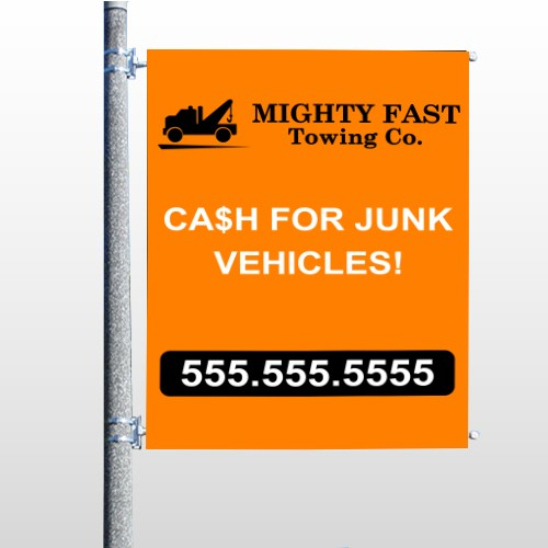 Mighty 313 Pole Banner