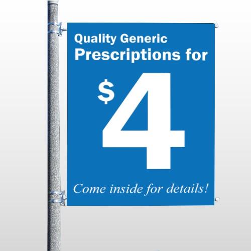 Pharmacy 334 Pole Banner