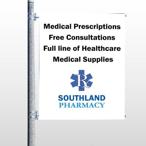 Pharmacy 335 Pole Banner