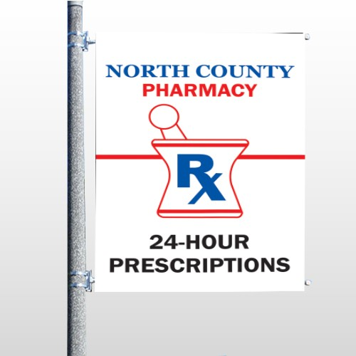 Pharmacy 101 Pole Banner