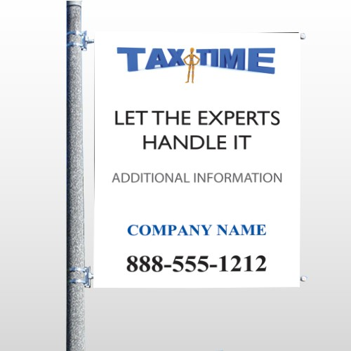 Tax Time 153 Pole Banner