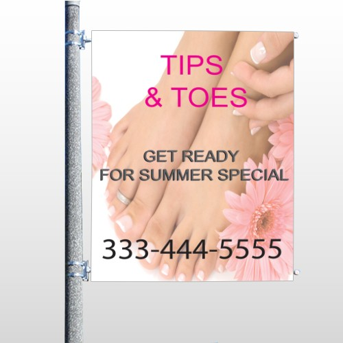 Tips And Toes 488 Pole Banner
