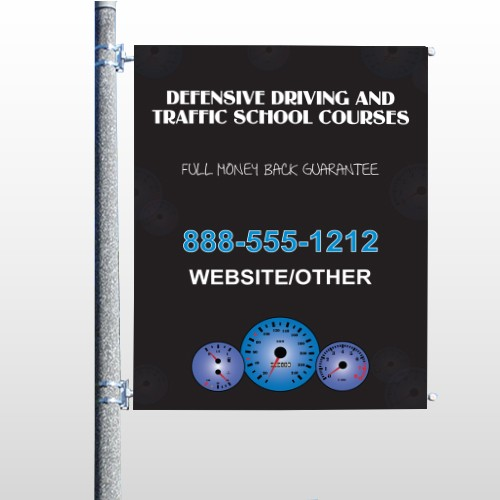 Traffic School 152 Pole Banner