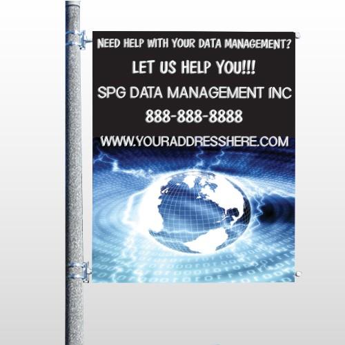 World Wide Web 437 Pole Banner