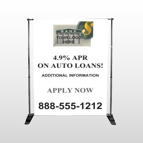 Auto Loan 173 Pocket Banner Stand