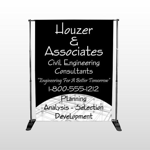 Black Planning 218 Pocket Banner Stand