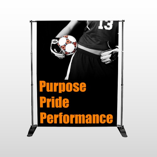 Black 53 Pocket Banner Stand