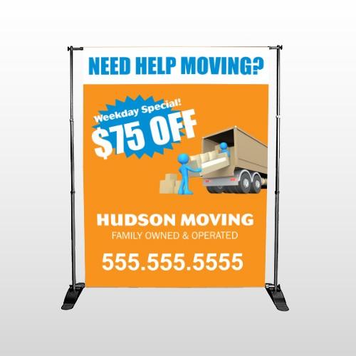 Blue Moving 294 Pocket Banner Stand