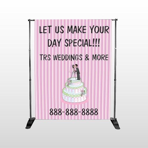Cake Topper 412 Pocket Banner Stand