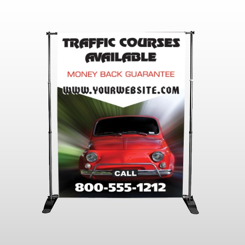 Car Traffic 153 Pocket Banner Stand