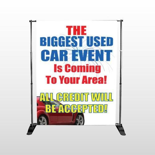 Fireworks Car 111 Pocket Banner Stand