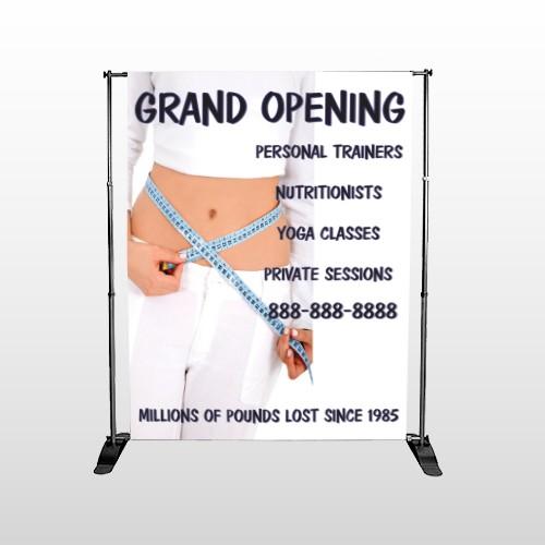 Middriff Measure 405 Pocket Banner Stand