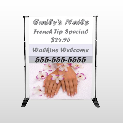 Nails 295 Pocket Banner Stand