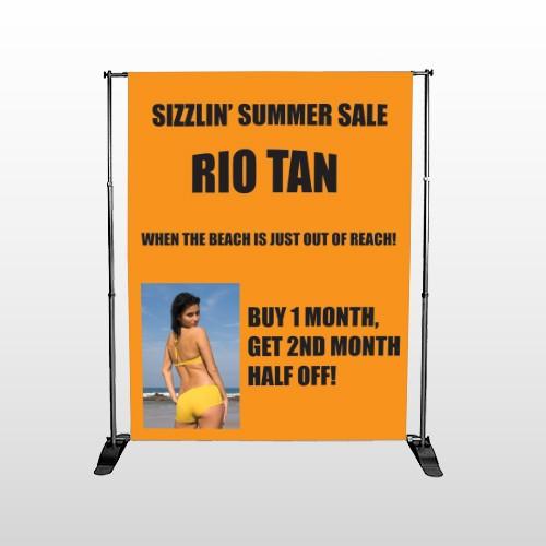 Rio Tan Beach 489 Pocket Banner Stand