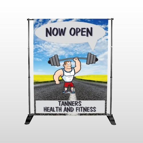 Road Workout 407 Pocket Banner Stand