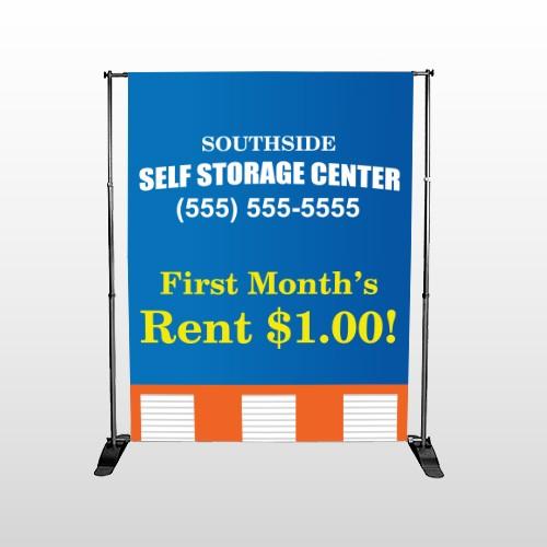 Storage Building 120 Pocket Banner Stand