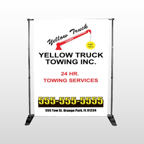 Towing 125 Pocket Banner Stand