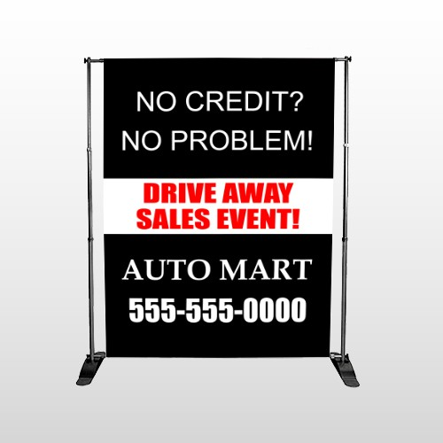Auto Mart 114 Pocket Banner Stand