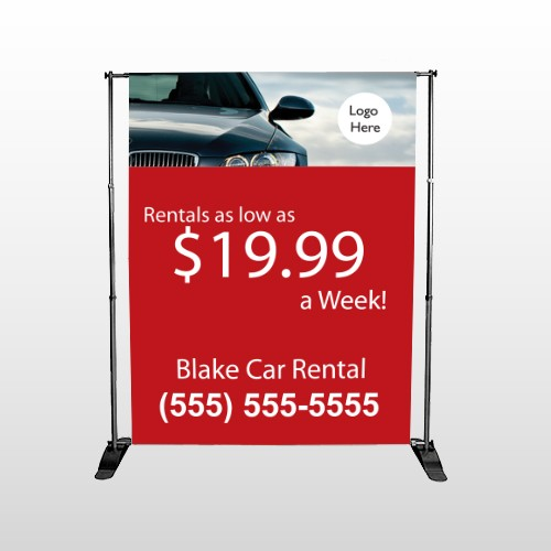 Car Rental 112 Pocket Banner Stand