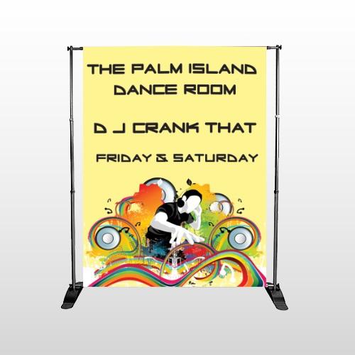 DJ Crank Night 369 Pocket Banner Stand