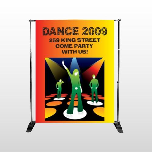 Dance Disco 518 Pocket Banner Stand