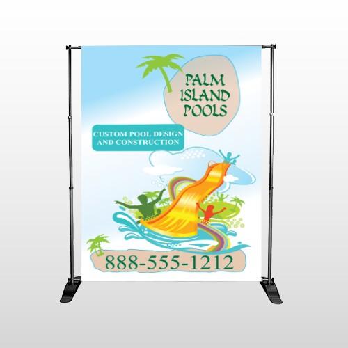Palm Island Pool 534 Pocket Banner Stand