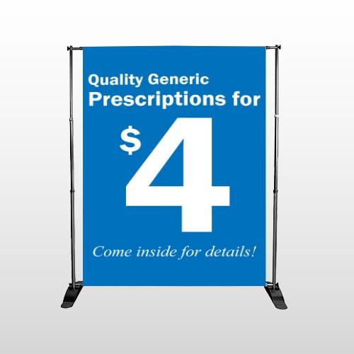Pharmacy 102 Pocket Banner Stand