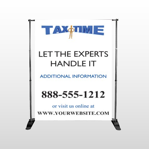 Tax Time 171 Pocket Banner Stand