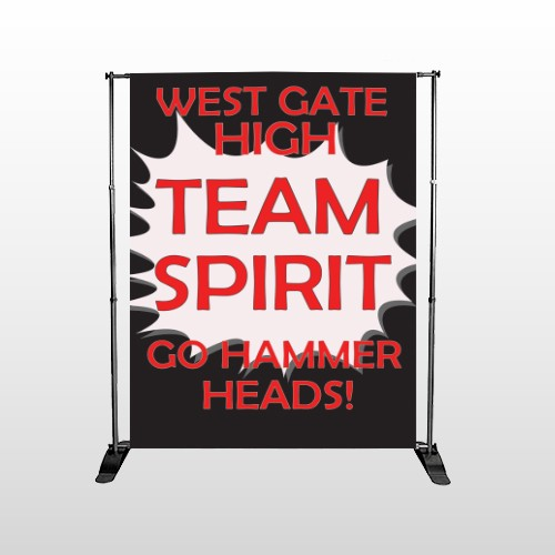 Team 43 Pocket Banner Stand