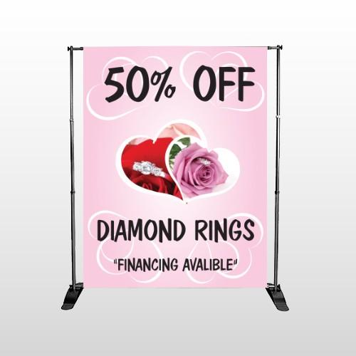 Pink Rose Hidden Ring 399 Pocket Banner Stand