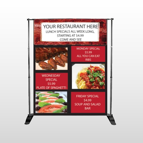 Restaurant Specials 370 Pocket Banner Stand