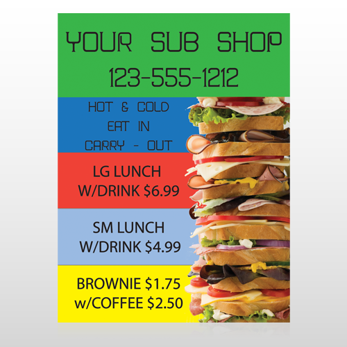 Sandwich 375 Custom Sign