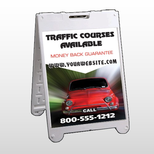 Car Traffic 153 A Frame Sign