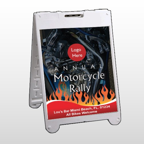 Motorcycle Flame 322 A Frame Sign