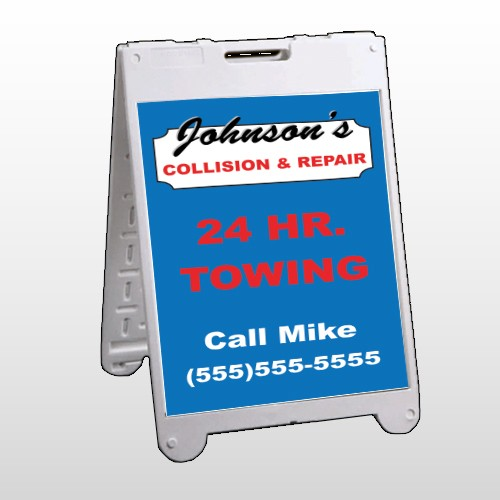 Repair 124 A Frame Sign