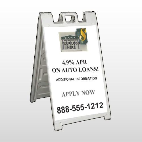 Auto Loan 173 A Frame Sign