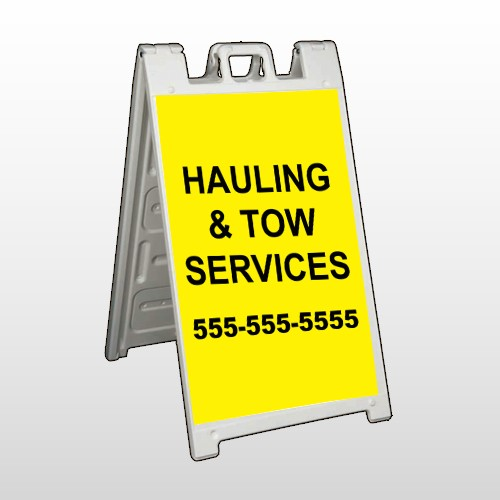 Hauling 127 A Frame Sign