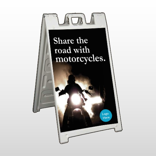 Motorcycle 106 A Frame Sign