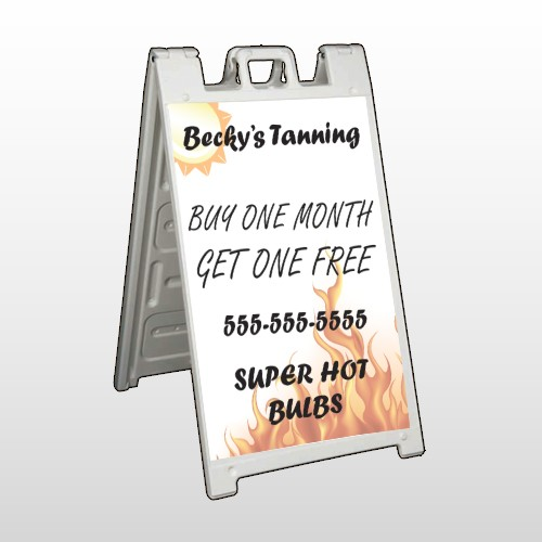 Tanning 298 A Frame Sign