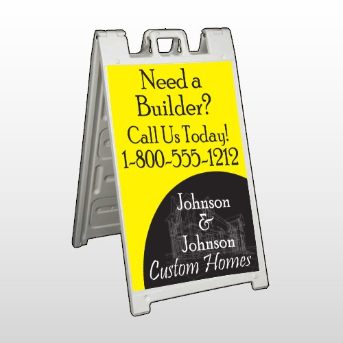 Yellow House Plan 216 A Frame Sign